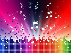 Colorful Music Background Showing Sounds Jazz And Harmony ...