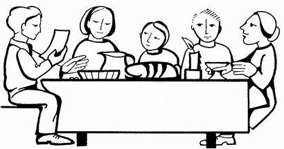 Table Dinner Clip Drawing Clipart Kitchen Round