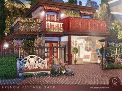 pralinesims french vintage shop  home sims  sims