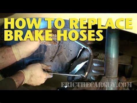 replace brake hoses ericthecarguy youtube