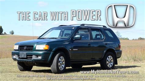 There are 6 reviews for the 1999 honda passport, click through to see what your fellow consumers are i bought my 1999 ex used with 120,000 miles on it and drive it full time. 1999 Honda Passport Commercial - YouTube