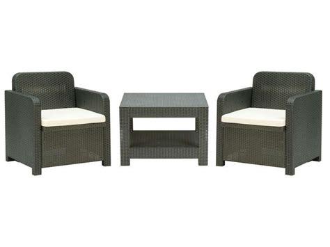 Salon de jardin 2 fauteuils + 1 table basse - Conforama - Pickture