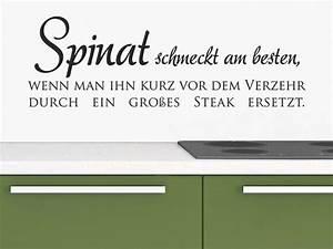 Wandtattoo Lustiger Spruch Spinat schmeckt am besten, wenn man ihn kurz vor dem Verzehr