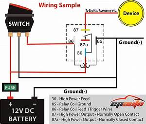 12 Volt Relay Wiring Diagram Function