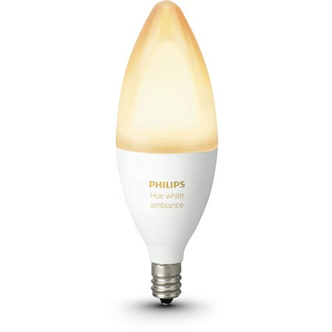 philips hue e12 single bulb white ambiance 468926 b h photo