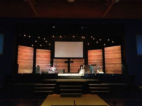 Church Stage Backdrop by Church Stage Design Wood Slat Walls
