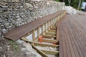 Terrasse Bois Sur Terre : pose terrasse bois pleine terre diverses ~ Dailycaller-alerts.com Idées de Décoration