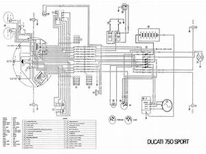 750 Sport 1974 Wiring Diagram 1 Page Pdf File Download