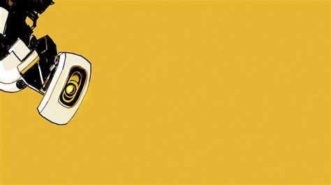 video games portal minimalistic yellow vault cameras
