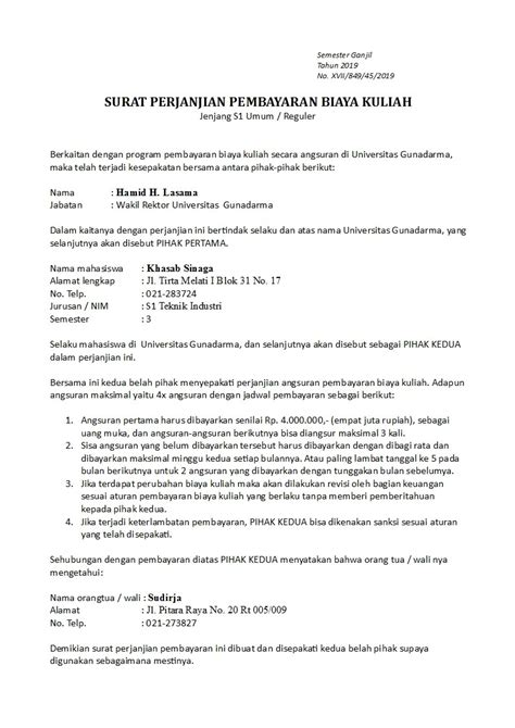 surat perjanjian pembayaran yang benar dan sah detiklife