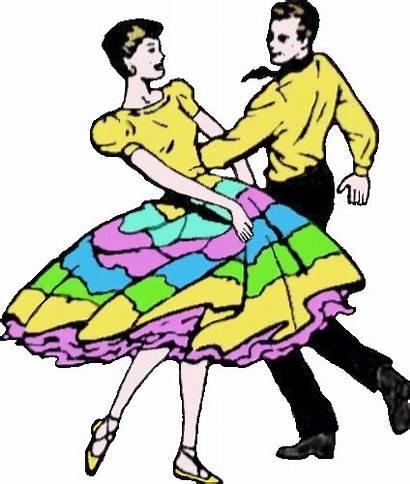 Dance Square Clipart Clip Dancing Poodle Skirts