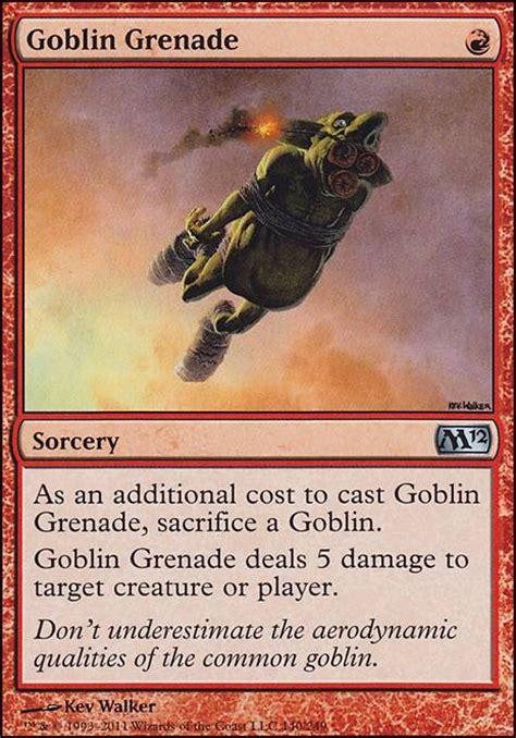 goblin charbelcher vintage deck goblin grenade m12 mtg card