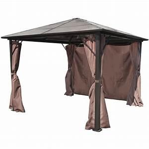 Aluminium Pavillon Mit Doppelstegplatten : vidaxl pavillon mit braunen vorh ngen aluminium 300x300 cm wetterfest g nstig kaufen ~ Whattoseeinmadrid.com Haus und Dekorationen