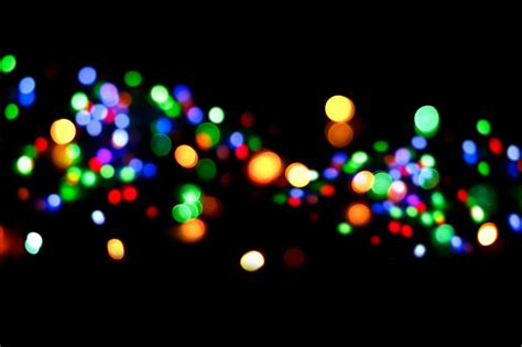 Abstract Bokeh Background On Night Photo