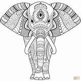 Coloring Elephant Zentangle Mandala Sheets Printable Easy Elefante Colorear Dibujos Elefant Imprimir Colouring Dibujo Seniors Animal Animals Gratis Pintar Supercoloring sketch template