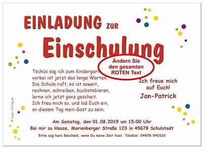 Einschulung Einladung Festtag Unser Schulkindern Zwei