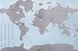 Carte Du Monde à Gratter Maison Du Monde : une carte du monde qui vous permet de gratter tous les pays que vous avez visit s ~ Teatrodelosmanantiales.com Idées de Décoration