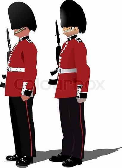 Guard Vector Beefeater Gb London Cartoon Illustration