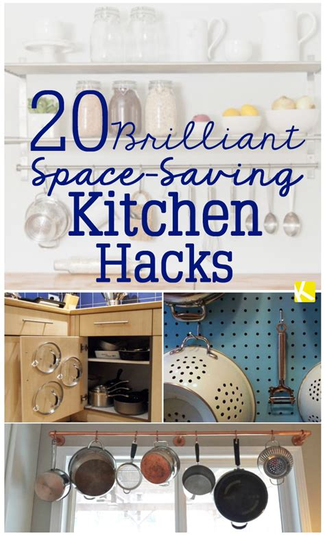 Kitchen Hacks Space by 20 Brilliant Space Saving Kitchen Hacks The Krazy Coupon