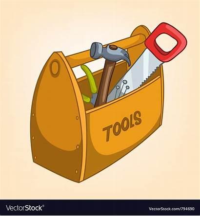 Tool Cartoon Box Vector Tools Cart Vectorstock