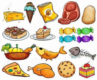 Different Clipart Kinds Dessert Kind Cartoon Vector