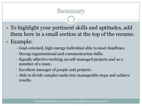 What Goes Into The Summary Of A Resume by How To Create A Paralegal Resume That Gets You Noticed