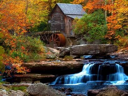 Water Waterfall Mill Desktop Flow Rock Wooden