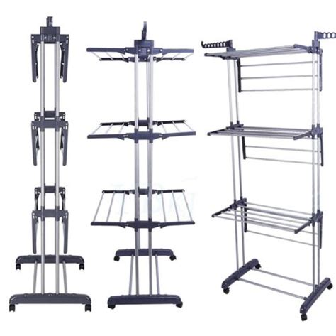 Decorative Clothes Rack Australia by Foldable Clothes Laundry Drying Rack Dryer Hanger Stand
