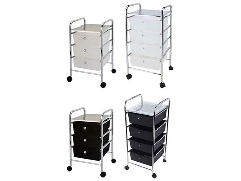 3 4 Drawer Trolley Cart Storage Portable Rack Cabinet Black White Chrome Kitchen Cash Drawer With Epson Printer Port And Cable Chest Of Drawers 50cm High What Is Drawee Payee Kitchen Knife Blocks Designs Bed 4 Wooden Frame Home 6 White Plastic Wide Tower Storage Unit Standard Width Closet