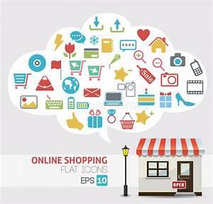 Set Online Shop : online shopping vector online store icons stock photo image 31792860 ~ Orissabook.com Haus und Dekorationen