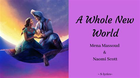 A Whole New World Mena Massoud & Naomi Scott (Lyrics