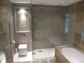 Frameless Shower Door Over Bath
