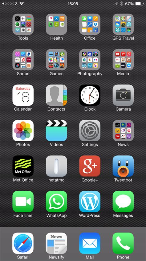 iphone 6 home screen my iphone 6 plus home screen layout design and why it s