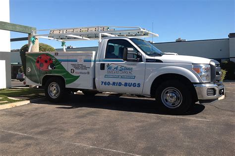 a of logo truck lettering truck lettering it s truck lettering and graphics for w a pest 83150