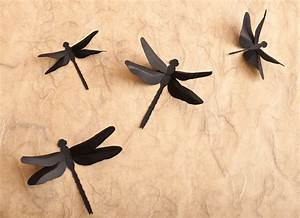 dragonfly wall decor 3d wall dragonfly silhouettes in black With dragonfly wall art