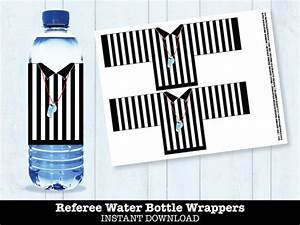 football referee water bottle labels bowl party super With football water bottle labels