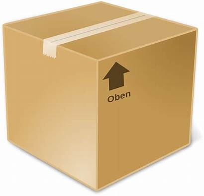 Package Box Clipart Clip Cardboard Packages Transparent