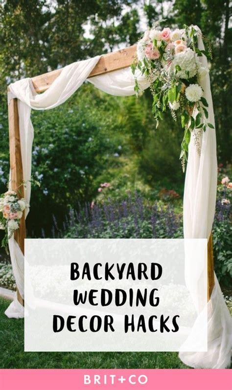 Garden Decoration Hacks by Best 25 Backyard Wedding Decorations Ideas On