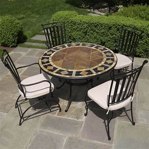 Furniture dining sets, tile top patio table mosaic patio