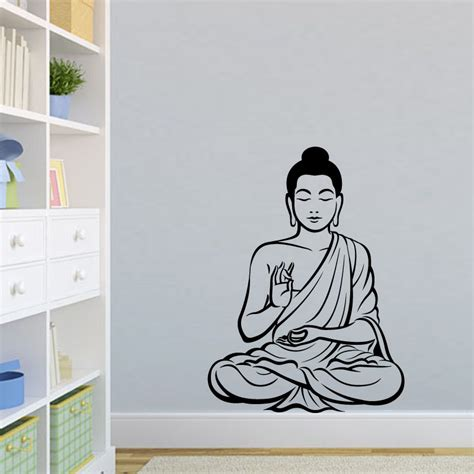 Nursery Curtain Poles by Most Popular Buddhism Buddha Wall Decals Home Decor