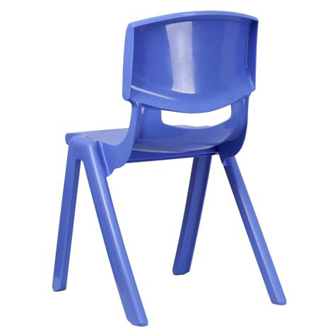 mfo blue plastic stackable school chair with 18 seat height