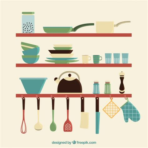 set ustensiles de cuisine ustensiles de cuisine set télécharger des vecteurs