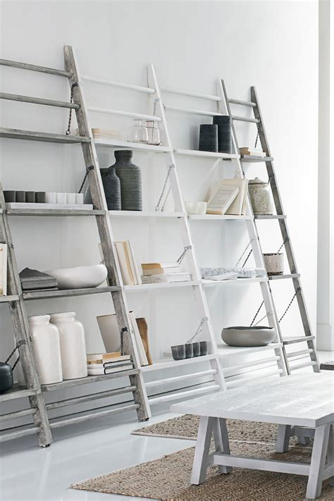 leaning ladder shelf objects of design 48 leaning shelves mad about the house