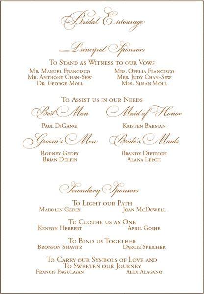 christian wedding program template wedding sponsors on invite weddingbee