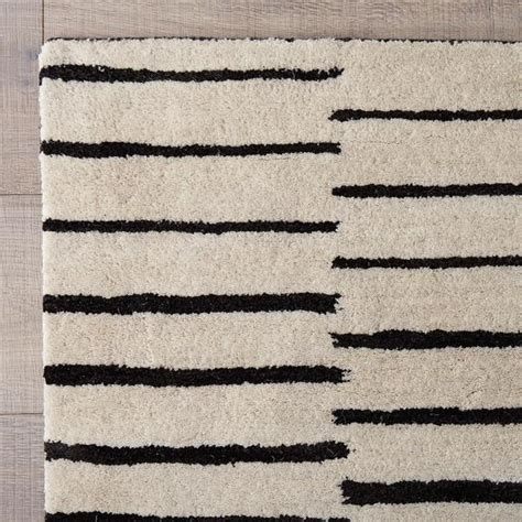 black and white rug black and white striped tufted rug
