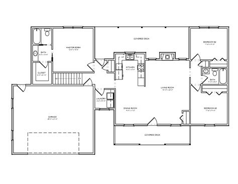 small ranch house plan    house plan site