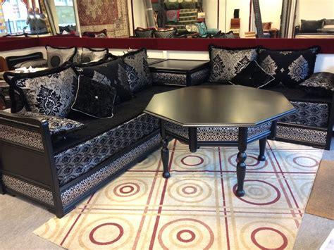 canapé style marocain salon marocain style moderne noir