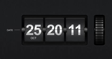 flip time date display psd mobile apps pixeden