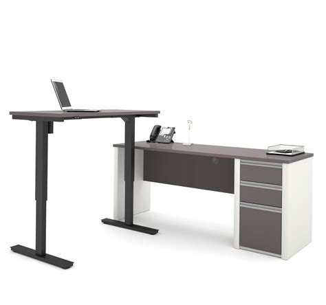 Office Desk Height by Modern Slate Sandstone Office Desk With Included Height