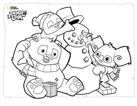 Kleurplaat Jam by Animal Jam Coloring Page Animals With Snowman Get